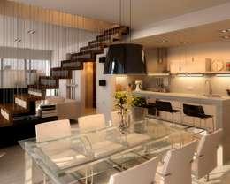 Comedores de estilo moderno por AMADO arquitectos