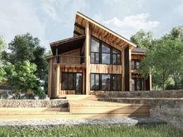 Коттедж в Эко стиле: Дома в . Автор – Студия архитектуры и дизайна ДИАЛ