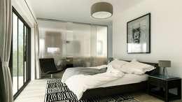 INTERIOR-DORMITORIO PRINCIPAL: Dormitorios de estilo moderno por ARQUETERRA