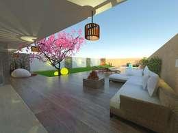"PROYECTO ""CASA MODELO"" -aún sin ejecutar: Jardines de estilo moderno por ER Design.    @eugeriveraERdesign"