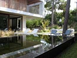 Aménagement d'un jardin de particulier au Cap Ferret: Piscine de style de style Moderne par NL-PAYSAGE- PAYSAGISTE DPLG
