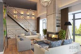 Salas / recibidores de estilo industrial por Студия авторского дизайна ASHE Home