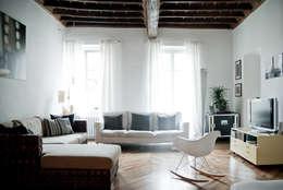 con3studio: iskandinav tarz tarz Oturma Odası
