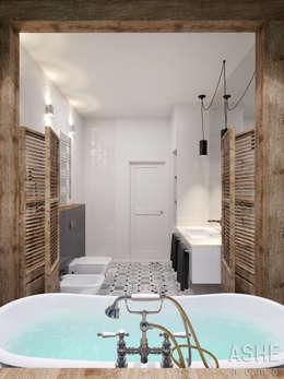 Лофт в Акбердино: Ванные комнаты в . Автор – Студия авторского дизайна ASHE Home