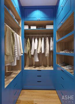 Студия авторского дизайна ASHE Home: eklektik tarz tarz Giyinme Odası