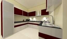 3 bedroom residential project Alkapuri, Hyderabad.: modern Kitchen by colourschemeinteriors