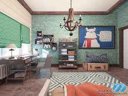 Детская мальчика, вариант 2, вид 2: Детские комнаты в . Автор –  Александр Малиновский