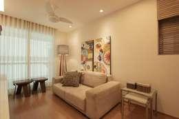 Apartamento Campo de São bento: Salas de estar escandinavas por Muniz e Gaby Interiores
