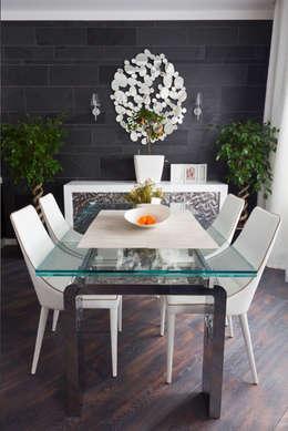 гостиная - кухня - столовая: Столовые комнаты в . Автор – Творческая Мастерская Владимира Романова