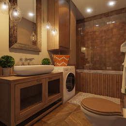 Baños de estilo  por Девятайкина Софья ( АРТ-мастерская 'Stylishdesign')