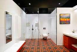 Peacock and the Woods : modern Bathroom by Aijaz Hakim Architect [AHA]