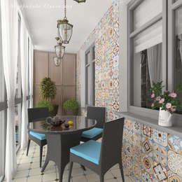 трехкомнатная квартира ул. Кирочная: Tерраса в . Автор – Design interior OLGA MUDRYAKOVA