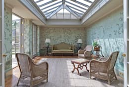Impressive Twin Classical Orangeries - Sitting Room: classic Conservatory by Vale Garden Houses