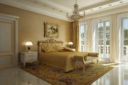 classic Bedroom by Design studio of Stanislav Orekhov. ARCHITECTURE / INTERIOR DESIGN / VISUALIZATION.