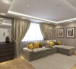 Квартира на пр. Космонавтов: Гостиная в . Автор – Design interior OLGA MUDRYAKOVA