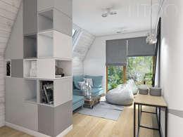 Chambre de style de style Scandinave par UTOO-Pracownia Architektury Wnętrz i Krajobrazu