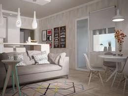 Livings de estilo escandinavo por Yana Ikrina Design