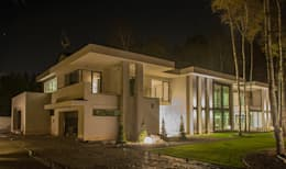 LK&1048 realizacja projektu: styl nowoczesne, w kategorii Domy zaprojektowany przez LK & Projekt Sp. z o.o.