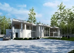 modern Houses by LK & Projekt Sp. z o.o.