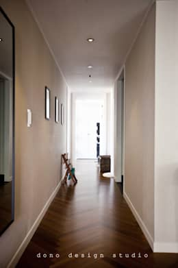 가오동 은어송 1단지 109 m2: 도노 디자인 스튜디오의  복도 & 현관
