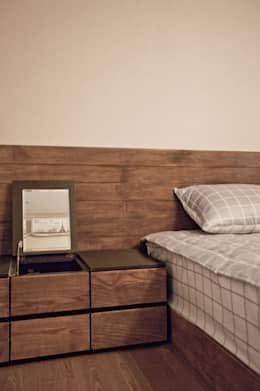 노은동 열매마을 9단지 : 도노 디자인 스튜디오의  침실