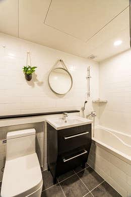 용인시 수지구 죽전동 성현마을 광명샤인빌아파트 (24평형): 아르떼 인테리어 디자인의  화장실