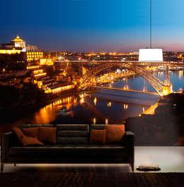 Paredes y pisos de estilo moderno por For-Arte, Lda