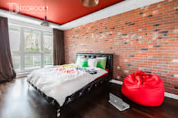 męskie mieszkanie: styl , w kategorii Sypialnia zaprojektowany przez Decoroom