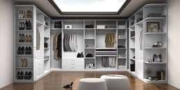Vestidor moderno: Vestidores de estilo moderno de TC interior