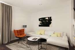 minimalistic Living room by Ivantsov design studio
