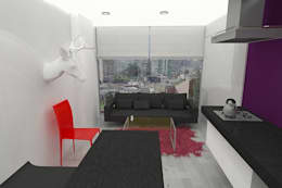 APARTAMENTO SISQUEM: Salas de estilo moderno por santiago dussan architecture & Interior design