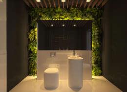 Санузел: Ванные комнаты в . Автор – Ivantsov design studio