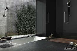con piatto doccia in stile zen