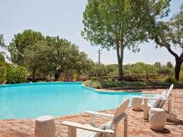Projekty,  Basen do ogrodu zaprojektowane przez SA&V - SAARANHA&VASCONCELOS