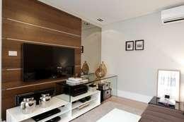 Salas multimedia de estilo moderno por criarprojetos | ARQUITETURA . INTERIORES . ENGENHARIA