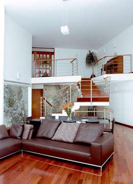 Casa M: Salas de estilo moderno por alexandro velázquez