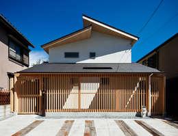正面外観: 株式会社seki.designが手掛けた家です。