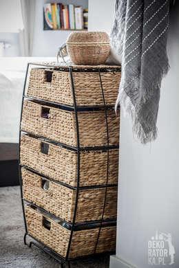POZNAŃ | Wierzbowa dziupelka | Realizacja: styl , w kategorii Sypialnia zaprojektowany przez dekoratorka.pl