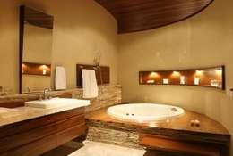 rustikale Badezimmer von Escritório Ana Meirelles