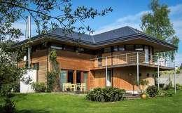 maison ossature bois: Lieux d'événements de style par TEMPO BOIS