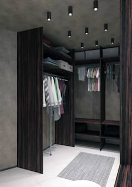 Walk in closet de estilo  por QUADRUM STUDIO