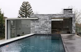 Poolhouse in graniet: modern Zwembad door Arend Groenewegen Architect BNA