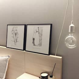 Paredes y pisos de estilo moderno por 진에이치 Jin H,art