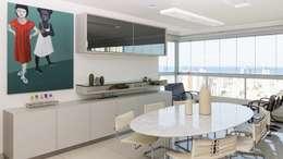 Residência T|R: Salas de jantar modernas por VZ Arquitetas