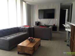 Apartamento 82 mts: Salas multimedia de estilo moderno por TRESD ARQUITECTURA Y CONSTRUCCIÓN DE ESPACIOS