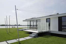 Zijgevel: moderne Huizen door Lab32 architecten