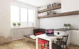 Mieszkanie Warszawa Powiśle : styl , w kategorii Salon zaprojektowany przez Twój Kwadrat