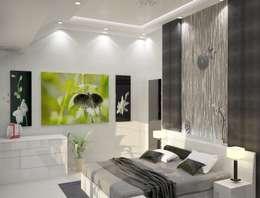 Дом в стиле хайтек или простота в деталях: Спальни в . Автор – DONJON