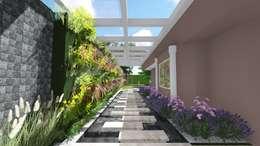 Entrada Lateral: Jardins modernos por Studio²