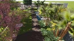 Studio²: modern tarz Bahçe